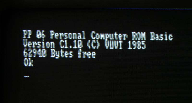 PP06 Personal Computer ROM Basic (C)1985